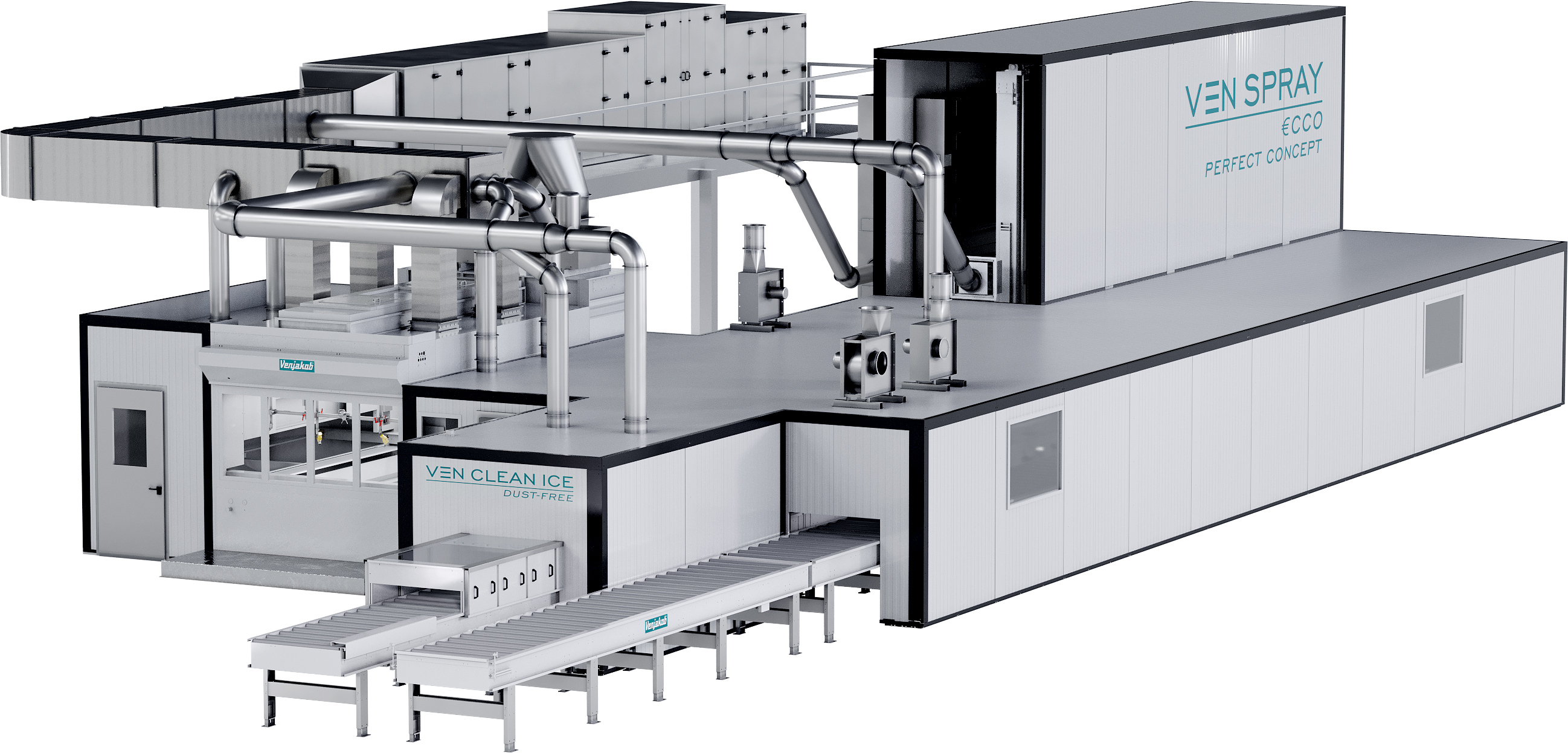 coating line for plastic parts